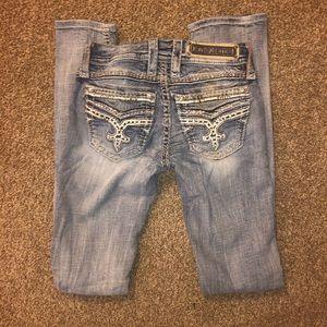 Womens Rock Revival Light denim skinny jeans